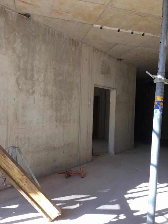 Sanierter Wohnraum Baustelle Daglfing