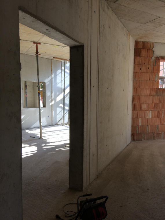 Wohnraum saniert Baustelle Daglfing