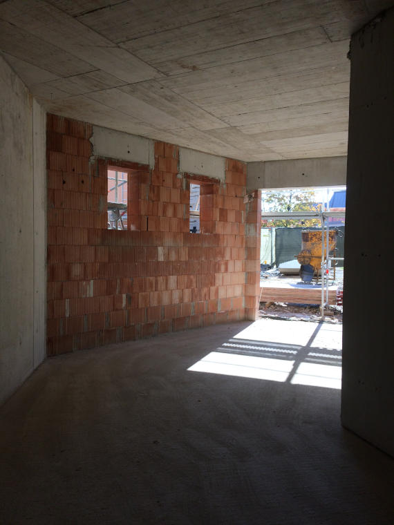 Innenansicht Baustelle Daglfing aus einer anderen Perspektive