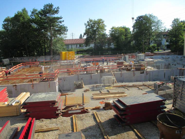 Baustelle Schulneubau Daglfing aus einer anderen Perspektive