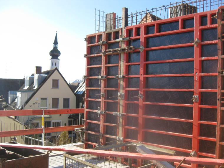 Baustelle Verkaufsräume Neubau Erding