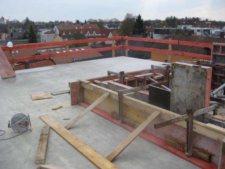 Betonierte Decke durch die Firma Pointner Bauunternehmung GmbH aus einem anderen Blickwinkel