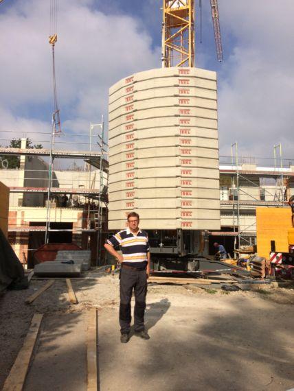Herr Meller, Geschäftsführer der Firma Pointner Bauunternehmung GmbH aus einer anderen Perspektive