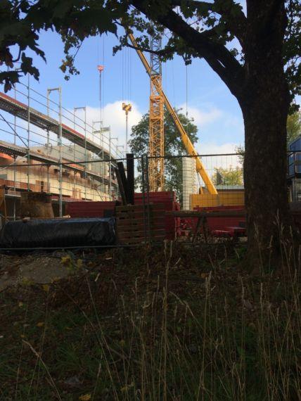Baustelle Waldorfschule, München aus einer anderen Perspektive