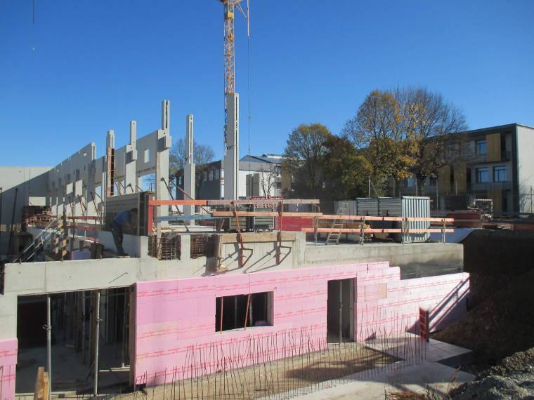 Teilansicht aus einem anderen Blickwinkel einer Baustelle der Firma Pointner Bauunternehmung GmbH