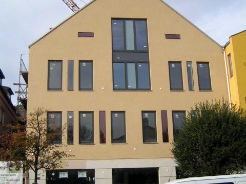Neubau, Wohn- und Geschäftshaus, Erding aus einem anderen Blickwinkel